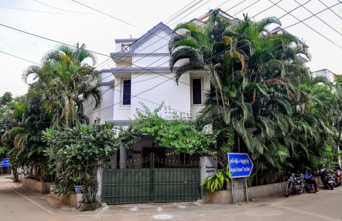 An outside view of former director general of police T K Rajendran's residence, where the CBI conducted a search in connection with the Gutkha scam, in Chennai on September 5, 2018. (PTI File Photo)