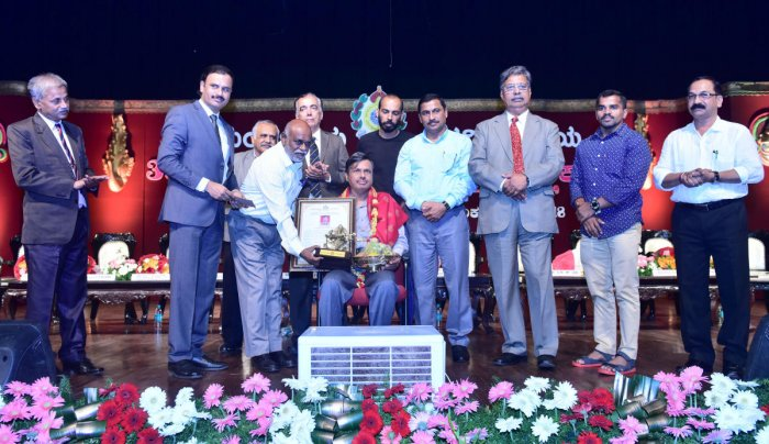 Mangalore University conferred Best Teacher Award on Prof K S Jayappa, professor, Department of Marine Geology, at the 39th Foundation Day and Teachers' Day programme, Mangalagangothri, on Monday.