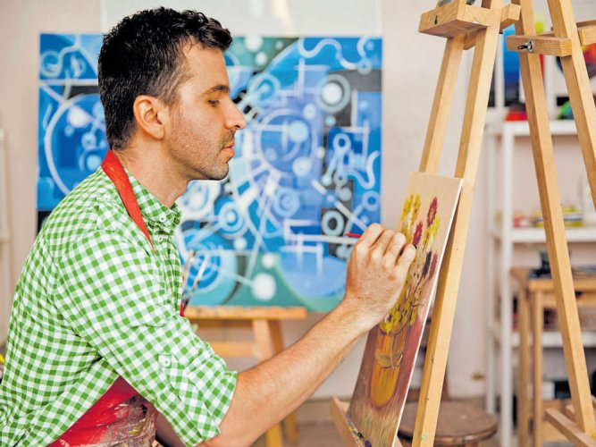 """But Harish began to see through the eyes donated to him and today, painting has given shape to his imagination. He demonstrated his artistic prowess in an awareness rally recently. """"I stopped going to school after class 10 since I lost sight due to a disease called Keratoconus. I underwent (cataract) transplant (surgery) at Narayana Nethralaya and am able to see now,"""" said Harish (17), a native of Kabballi. File photo for representation only"""