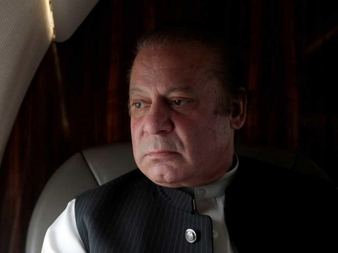 Pakistan's jailed former Prime Minister Nawaz Sharif and his daughter have been temporarily released on parole for the funeral of his wife. (Reuters File Photo)