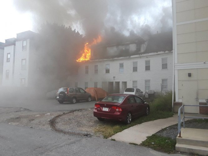 A building burns after explosions in Lawrence, Massachusetts, US. Reuters Photo