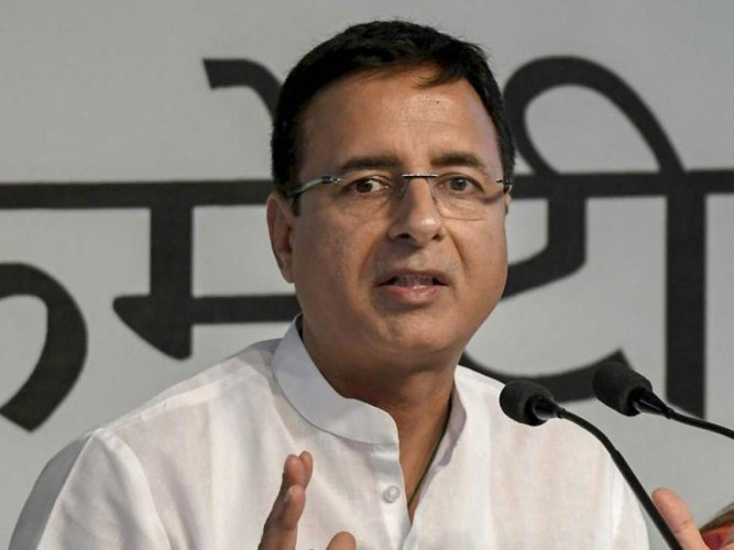 "Congress chief spokesperson Randeep Surjewala claimed that the falling Rupee and uncontrolled CAD were a ""failure of 'Modinomics'"" which had ""utterly failed"" to take stock of the country's economy. (PTI File Photo)"