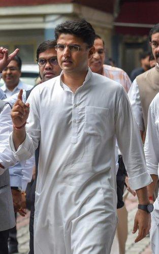 Congress leader Sachin Pilot. PTI
