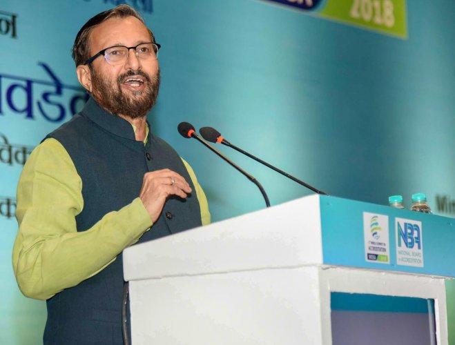 HRD Minister Prakash Javadekar. PTI Photo