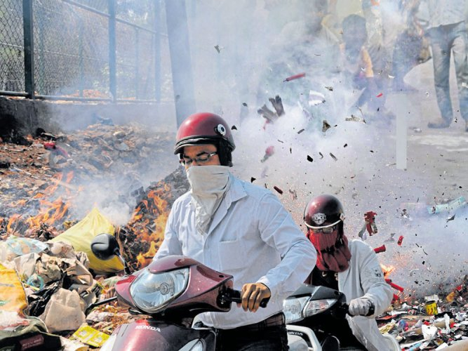 The state pollution control board, which inspected the schools, wrote to the Meerut Development Authority to initiate action. DH file photo