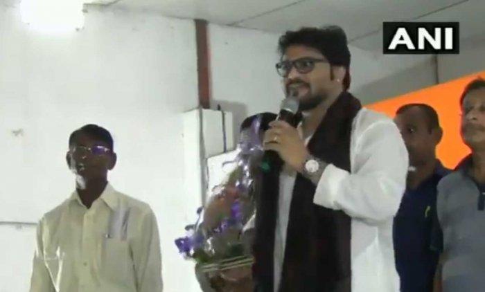 Union minister Babul Supriyo. (Image courtesy ANI)