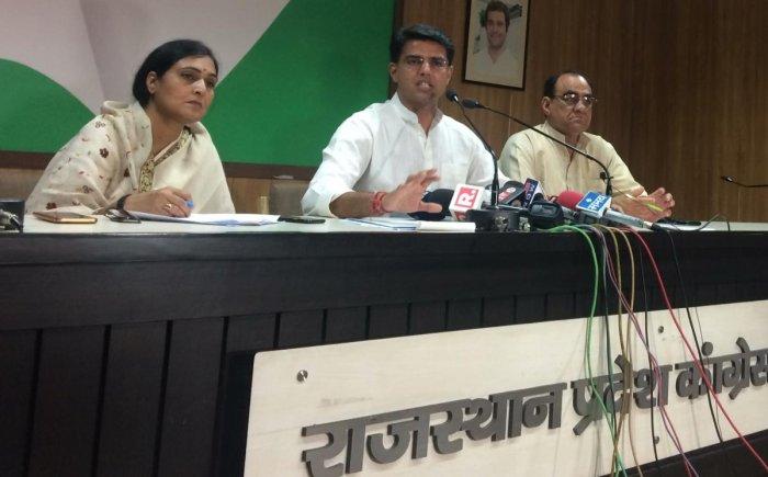 Congress leader Sachin Pilot. File photo