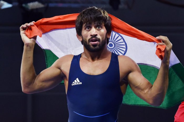 Bajrang showed his class with a superb triumph in the 65kg class of the Commonwealth Games wrestling event. PTI
