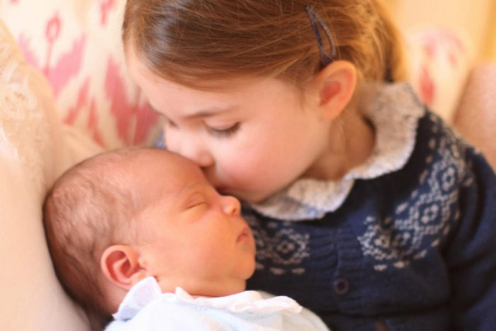 Britain's Princess Charlotte and her brother Prince Louis are seen in this photograph released by Kensington Palace, and taken by Britain's Catherine, Duchess of Cambridge. Reuters