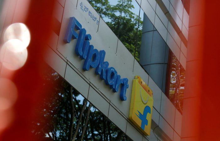 The logo of Flipkart is seen on the company's office in Bengaluru. REUTERS