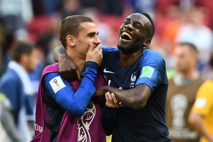 France's forward Antoine Griezmann (left), seen with midfielder Blaise Matuidi, will have to raise his game against Peru on Thursday. AFP