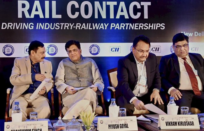With the railways taking up massive electrification coupled with renewable strategies, the national transporter became a net zero carbon emitter by 2030, Railway Minister Piyush Goyal said here on Tuesday. PTI photo
