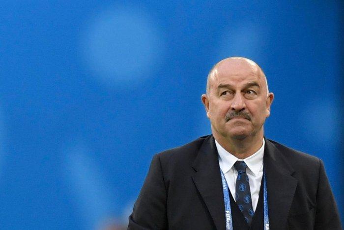 Russia's coach Stanislav Cherchesov.