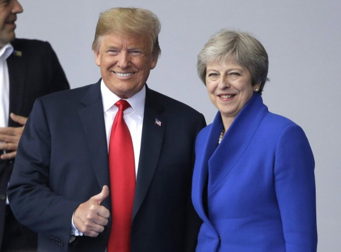 May and Trump will hold talks on Brexit, relations with Russia and trade ties at the prime minister's Chequers country residence followed by a press conference. (AP/PTI File Photo)
