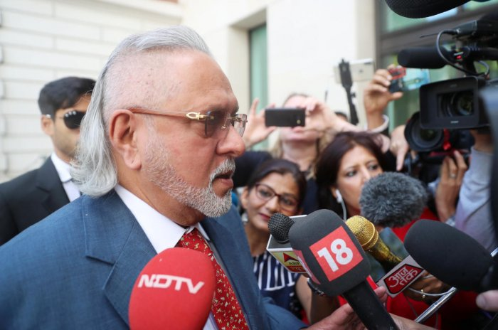 Vijay Mallya arrives at Westminster Magistrates court in London, Britain, on Tuesday. (REUTERS)