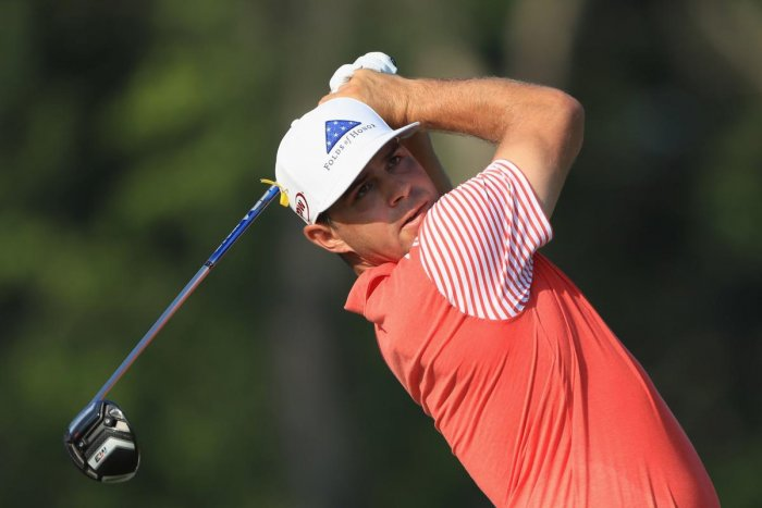 Gary Woodland of the United States in action in the first round of the PGA Championships on Thursday. AFP