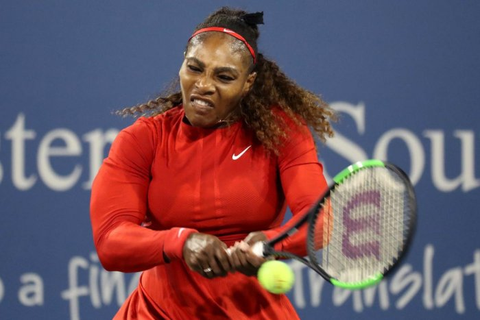 TOUGH ROAD: Serena Williams of the United States will not have it easy at the US Open where she aims to win her seventh crown. AFP