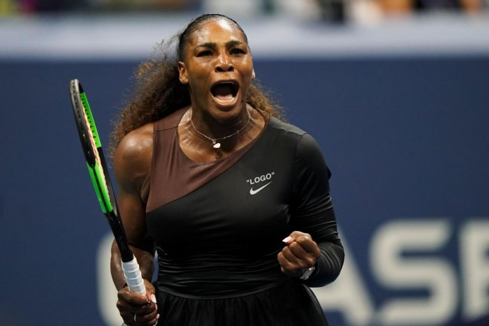 Serena Williams of the US defeated Czech Republic's Karolina Pliskova in the quarterfinals of the US Open. AFP