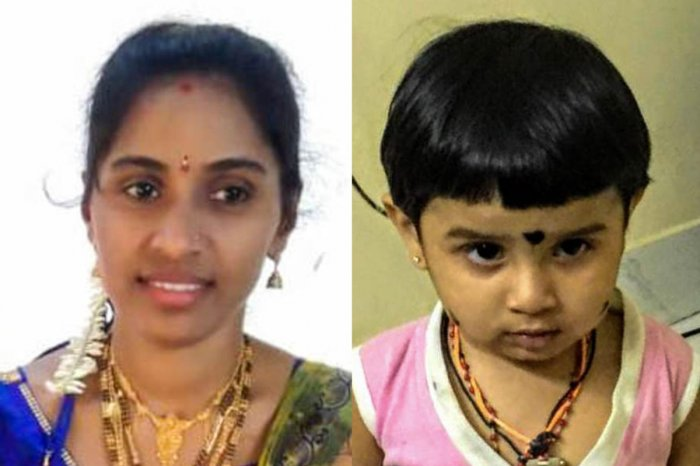 Surekha, 30, and her three-year-old daughter Aaradhya died on the spot while her husband was injured after an unknown vehicle hit their scooter near Lumbini Garden at 11 pm on Thursday when they were returning from a relative's house.