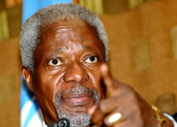 Former United Nations Secretary General and Nobel Peace Prize laureate Kofi Annan. DH file photo.