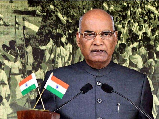 President Ram Nath Kovind. PTI file photo