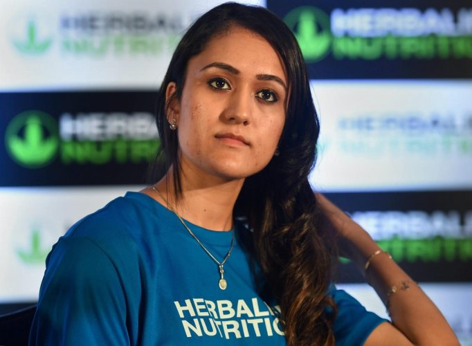 HAVING RIGHT PRIORITIES Table tennis star Manika Batra during a function in New Delhi on Thursday. PTI