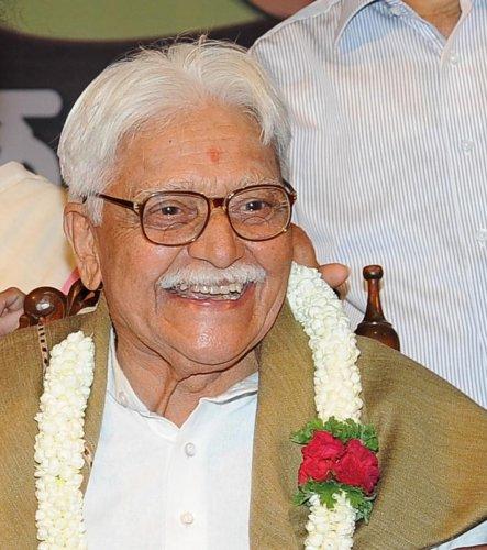 Veteran actor Sadashiv Brahmavar. DH Photo.