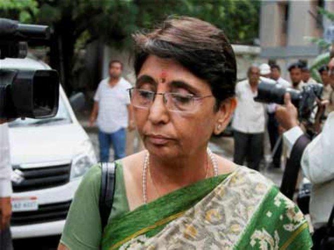 Former Gujarat minister Maya Kodnani. PTI File Photo