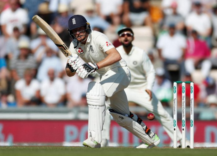 Jos Buttler en route to his 69 on Saturday. REUTERS