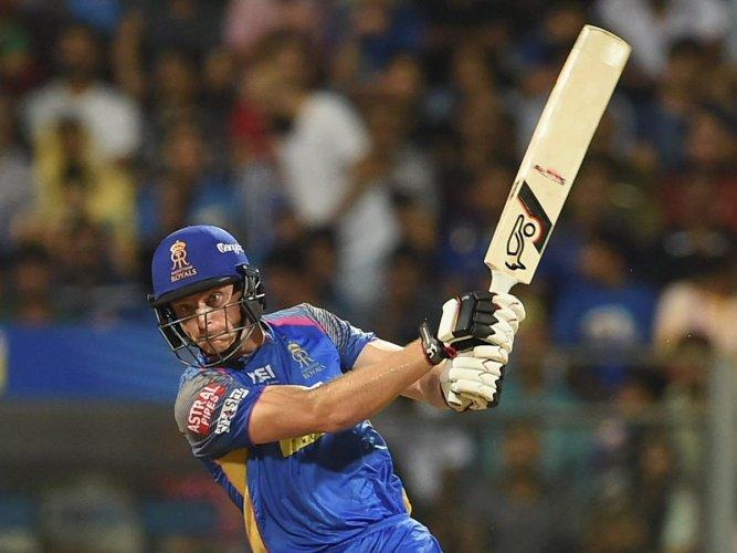 Rajasthan Royals' Jos Buttler slammed an unbeaten 94 against Mumbai Indians. PTI