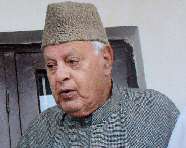Farooq Abdullah. PTI File Photo