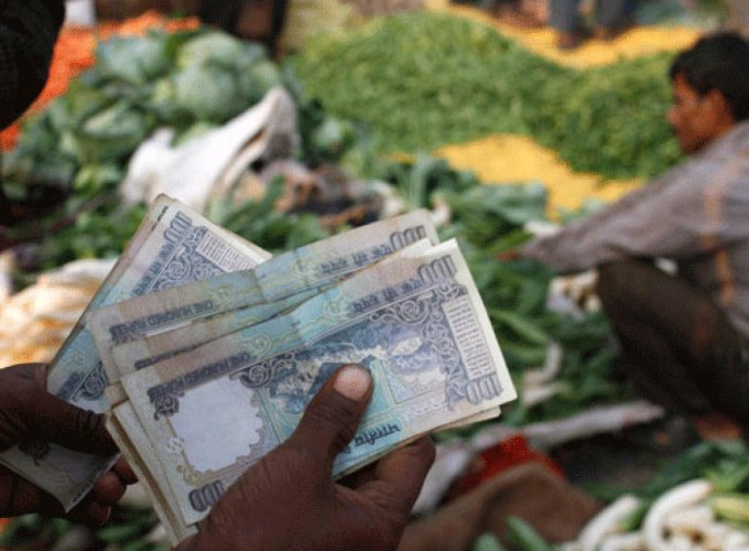Annual wholesale price inflation last month rose to 3.18 percent from a year earlier, higher than a 2.47 percent rise in March, and an increase of 2.86 percent forecast by economists in a Reuters poll. file photo