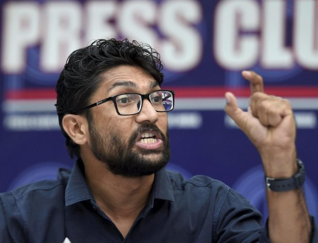 Gujarat legislator Jignesh Mevani said that he received a call from some person named Ranvir Mishra, who threatened to shoot him. PTI file photo