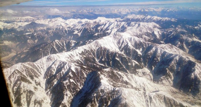 A view of snow covered mountains of the Kashmir Valley. (PTI File Photo)