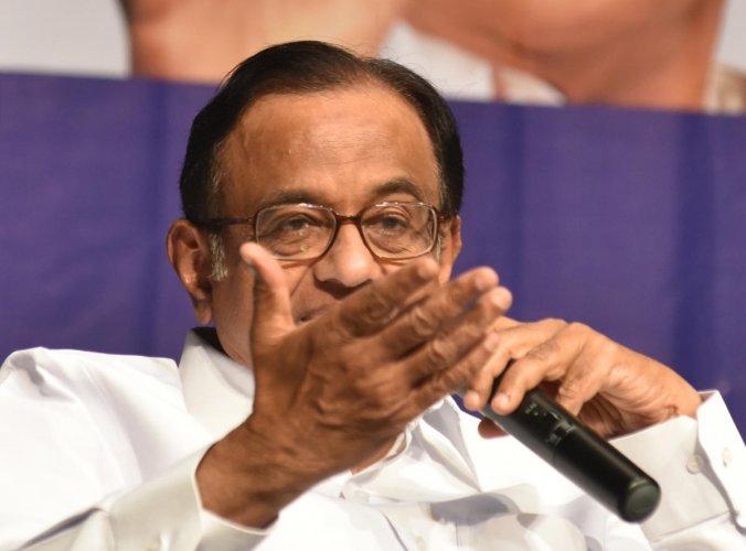 Congress leader P Chidambaram. DH File Photo