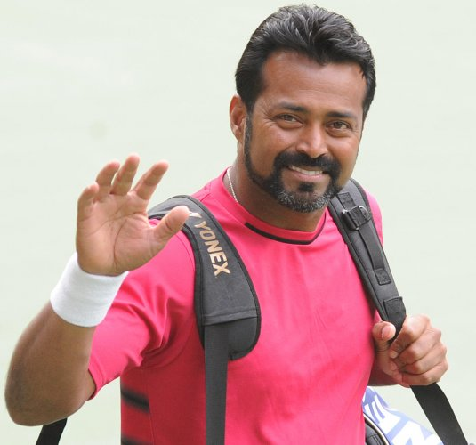 UNSTOPPABLE: Indian tennis veteran Leander Paes added another feather to his cap when he set a record of most number of doubles wins in Davis Cup. (DH Photo by Srikanta Sharma R)