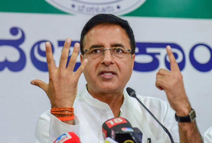 """Congress chief spokesperson Randeep Surjewala claimed the common man was suffering due to spiralling prices of such products and the government had """"looted"""" the country of over Rs 11 lakh crore due to levy of """"monstrous taxes"""". PTI file photo"""