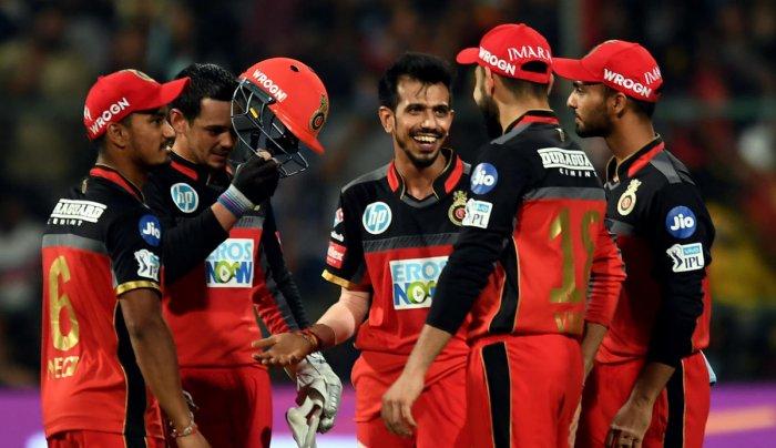 RCB's Yuzvendra Chahal feels his team's bowlers will gradually improve. DH PHOTO