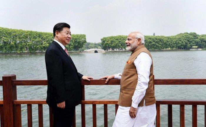 Prime Minister Narendra Modi with Chinese President Xi Jinping. PTI/PIB Photo