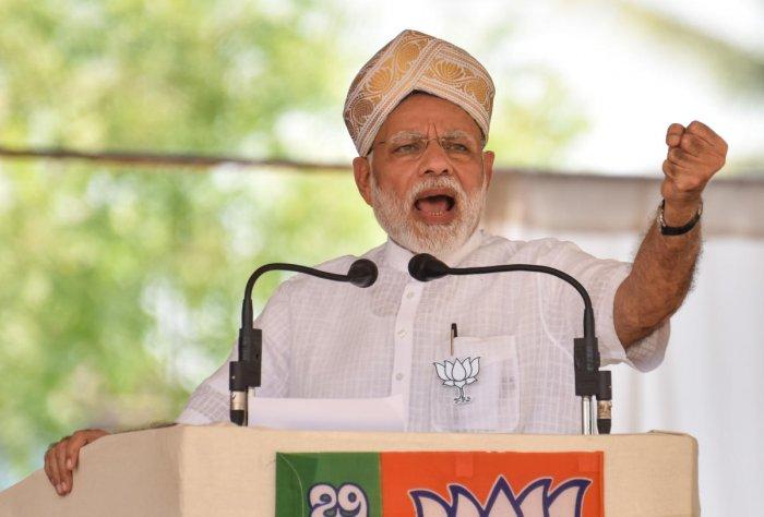 Prime Minister Narendra Modi. DH File Photo