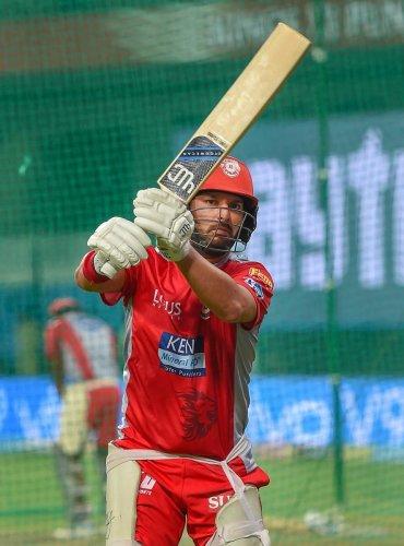 STRUGGLING: Kings XI Punjab's Yuvraj Singh had a forgettable IPL 11. AFP
