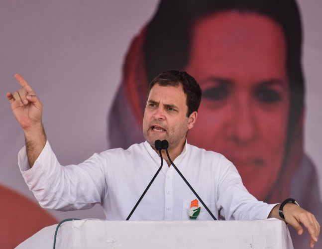 "Rahul Gandhi put out a video titled ""Karnataka's Most Wanted"" on his Twitter account to highlight the issue. (DH Photo)"