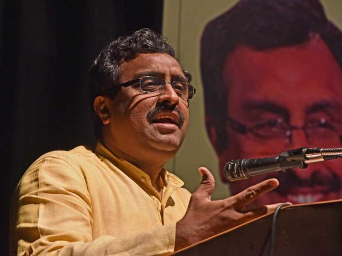 BJP general secretary Ram Madhav told a congregation of Sikhs at one of the oldest Gurdwaras of Maryland in a suburb of Washington DC. (File photo)