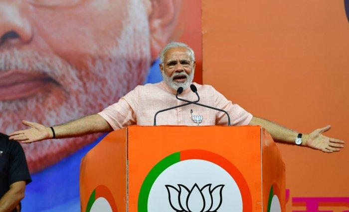 Prime Minister Narendra Modi. DH Photo