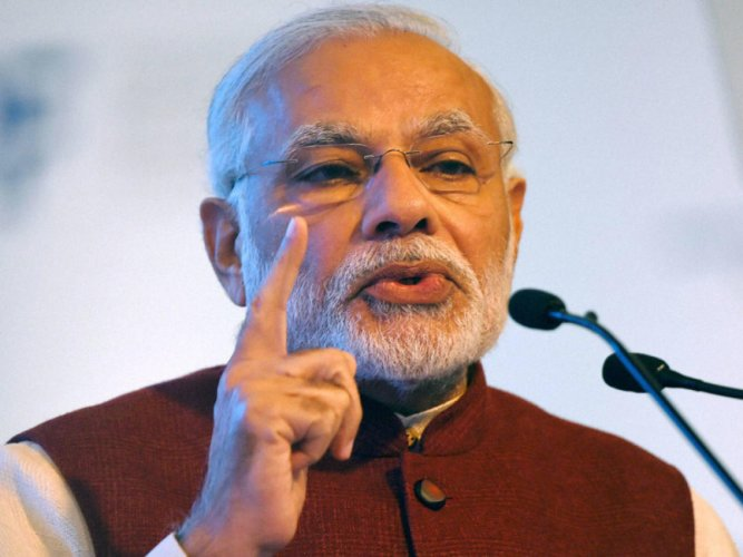 Modi's security is as strong as Mossad (Israel's intelligence agency) and it is virtually impossible for anybody to penetrate it, the Sena claimed. PTI file photo