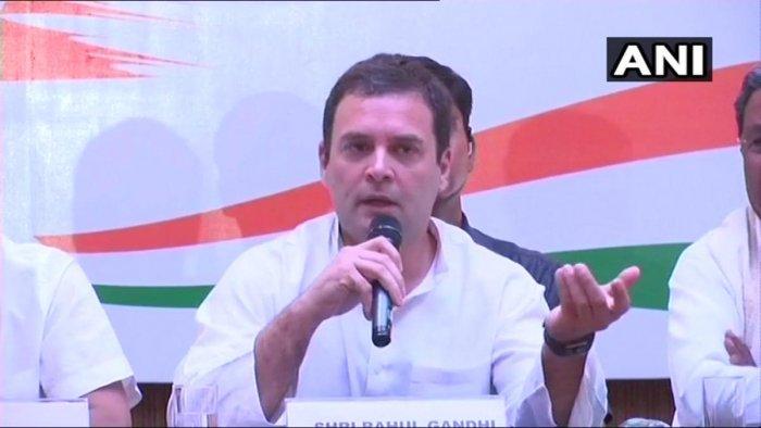 Congress president Rahul Gandhi. File photo