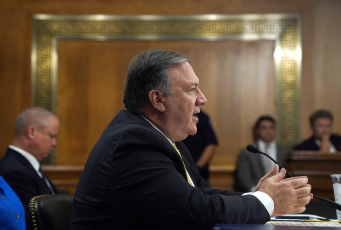 Pompeo was responding to questions from Senator Chris Coons from Delaware about how to further strengthen the US-India relationship. (Reuters)