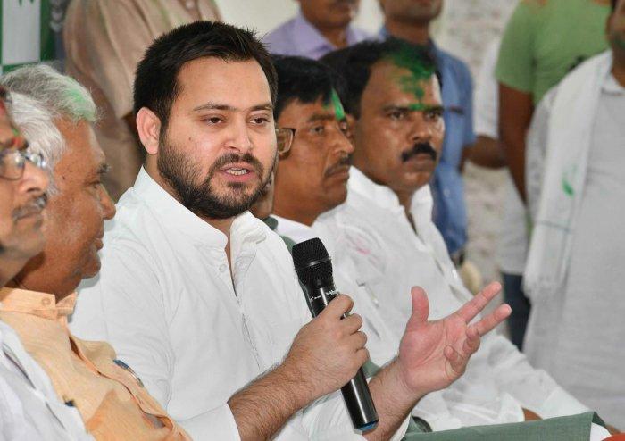 Rashtriya Janata Dal (RJD) leader Tejaswi Yadav. (PTI file photo)