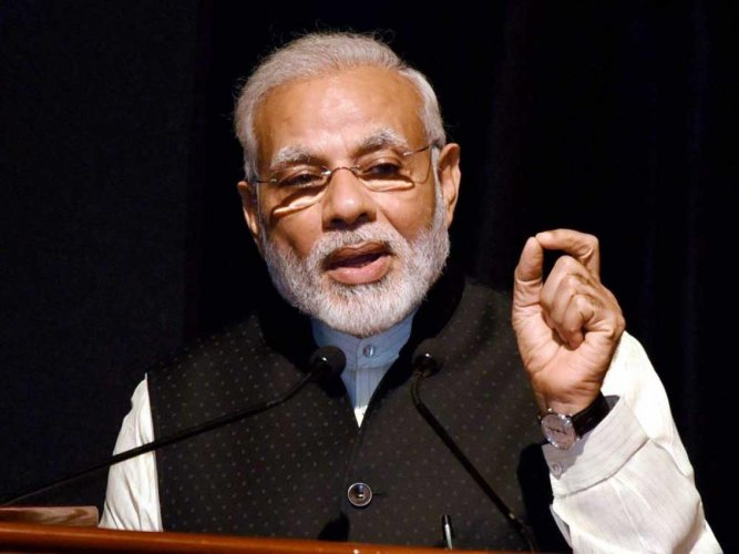 He was interacting through video conference with beneficiaries of the 'Pradhan Mantri Bhartiya Janaushadhi Pariyojna (PMBJP)' and affordable cardiac stents and knee implants. (PTI file photo)