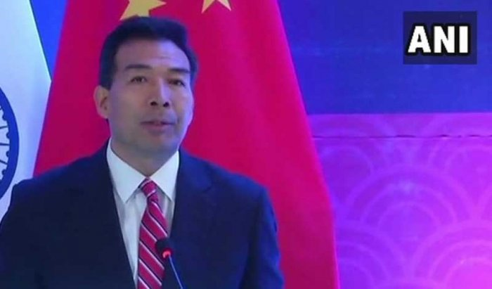"""Chinese envoy to India, Luo Zhaohui on Monday emphasised the need to find a """"mutually acceptable solution"""" on the boundary issue. (Image: ANI Twitter)"""